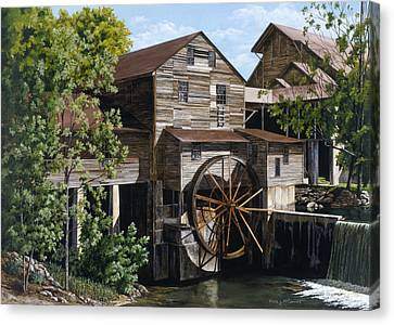 The Mill At Pigeon Forge Canvas Print by Marla J McCormick