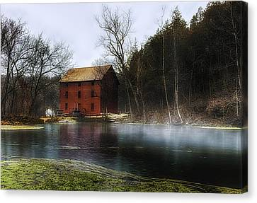 The Mill Pond Canvas Print by Ron  McGinnis
