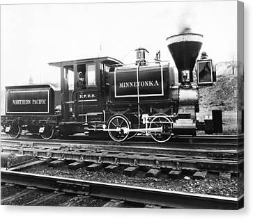 The Minnetonka Locomotive Canvas Print by Underwood Archives
