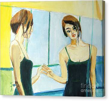 The Mirror Has Two Faces Canvas Print by Judy Kay