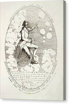 The Montgolfier Brothers Canvas Print by British Library