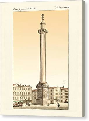 The Monument In London Canvas Print by Splendid Art Prints