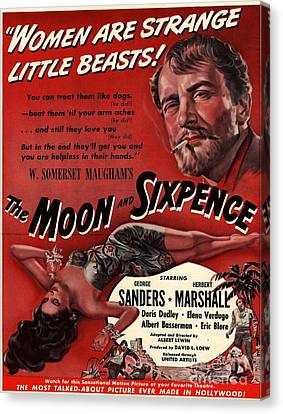 The Moon And Sixpence 1943 1940s Usa Canvas Print by The Advertising Archives