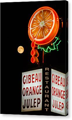 The Moon Loves Orange Julep  Canvas Print by Martin New
