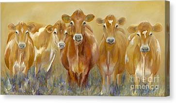 The Morning Moo Canvas Print by Catherine Davis