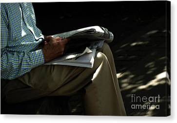 The Morning Paper  Canvas Print by Steven  Digman