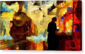 The Morning Train Tnm Canvas Print by Vincent DiNovici