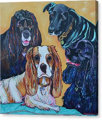 The Moseley Gang Canvas Print by Patti Schermerhorn