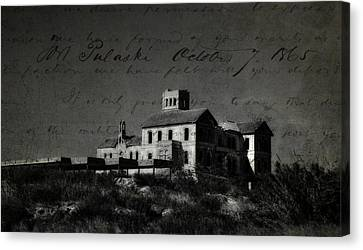The Most Haunted House In Spain. Casa Encantada. Welcome To The Hell Canvas Print by Jenny Rainbow