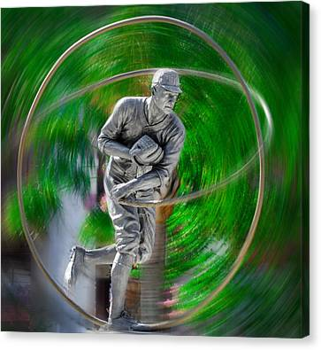 The Motion Of The Pitch Canvas Print by Bill Cannon
