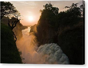 The Murchison Falls Of The River Nile Canvas Print by Martin Zwick