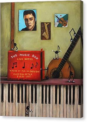 The Music Box Canvas Print by Leah Saulnier The Painting Maniac