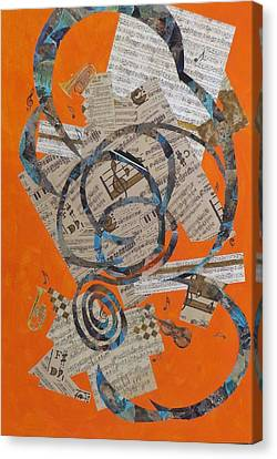 The Music Goes Round And Round Canvas Print by David Raderstorf