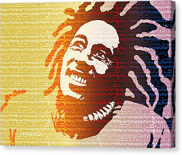 The Music Lives On Canvas Print by Anthony Mwangi