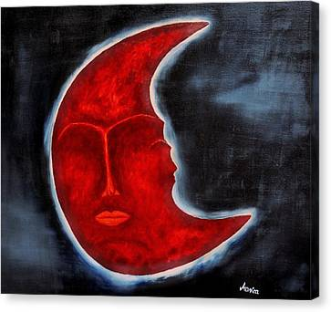 The Mysterious Moon - Original Oil Painting Canvas Print by Marianna Mills