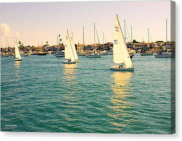 The Mystery Of Sailing Canvas Print by Angela A Stanton