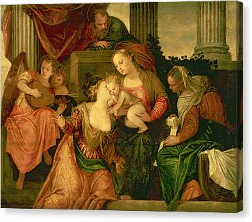 The Mystic Marriage Of Saint Catherine Canvas Print by Veronese