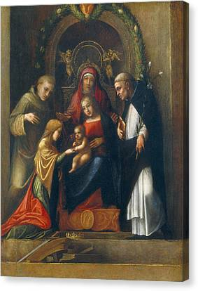 The Mystic Marriage Of St Catherine Canvas Print by Antonio Allegri Correggio