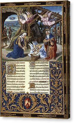 The Nativity Illumination From A Late Canvas Print by Granger