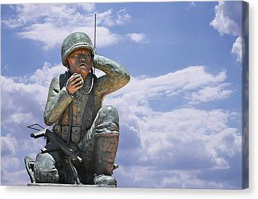 The Navajo Code Talkers Canvas Print by Christine Till