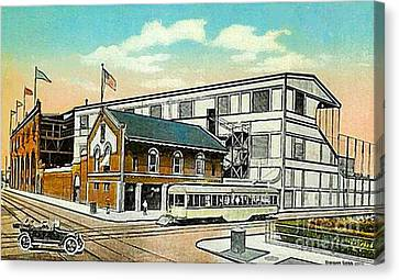The Negro League Park Stadium In Cleveland Oh Around 1915 Canvas Print by Dwight Goss