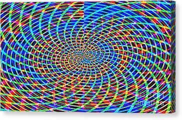 The Network Canvas Print by Roz Abellera Art