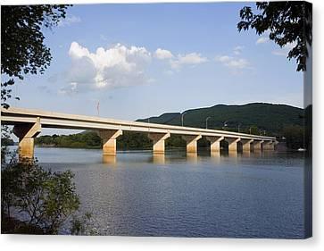 The New Arch Street Bridge Canvas Print by Gene Walls
