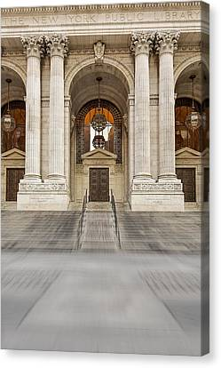 The New York Public Library Canvas Print by Susan Candelario