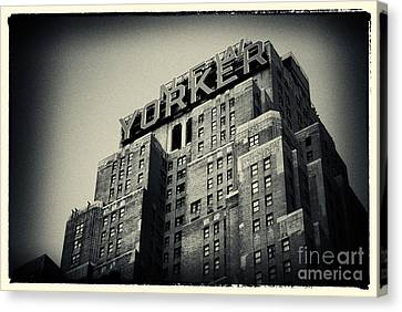 The New Yorker Hotel New York City Canvas Print by Sabine Jacobs