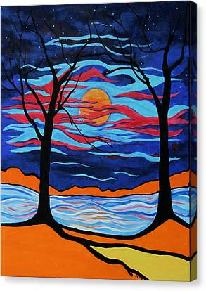 The Night Dances Canvas Print by Kathy Peltomaa Lewis