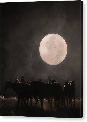The Night Shift Canvas Print by Ron  McGinnis