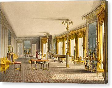 The North Drawing Room, Or Music Room Canvas Print by English School