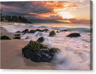 The North Shore Of Maui Canvas Print by Hawaii  Fine Art Photography
