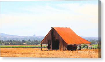 The Old Barn 5d24404 Long Canvas Print by Wingsdomain Art and Photography