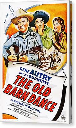 The Old Barn Dance, Us Poster Canvas Print by Everett