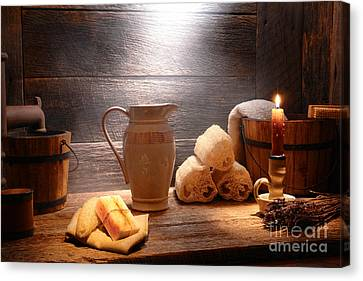 The Old Bathroom Canvas Print by Olivier Le Queinec