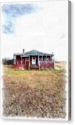 The Old Beach Cottage Canvas Print by Edward Fielding