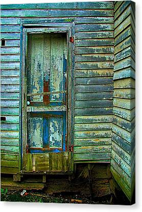 The Old Blue Door Canvas Print by Julie Dant