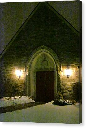 The Old Church Canvas Print by Guy Ricketts