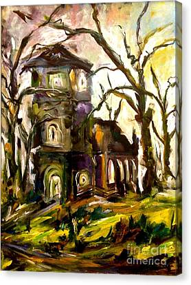 The Old Church Canvas Print by Michelle Dommer