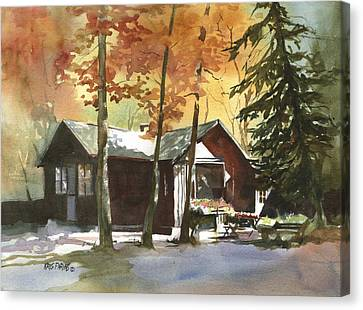 The Old Cottage Canvas Print by Kris Parins