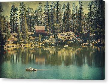 The Old Days By The Lake Canvas Print by Laurie Search