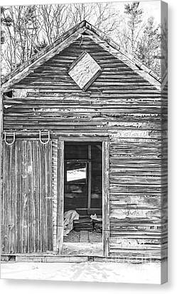 The Old Farm Shed Canvas Print by Edward Fielding