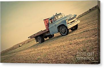 The Old Farm Truck Canvas Print by Edward Fielding