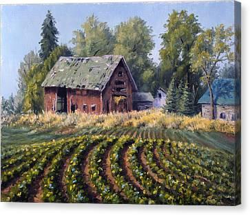 The Old Farmstead Canvas Print by Rick Hansen