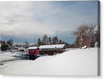 The Old Forge Covered Bridge Canvas Print by David Patterson