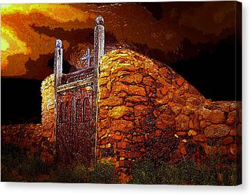 The Old Gates Of Galisteo Canvas Print by David Lee Thompson