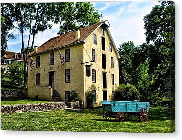 The Old Grist Mill  Paoli Pa. Canvas Print by Bill Cannon