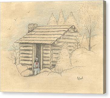 The Old Homeplace Canvas Print by Carol Neal