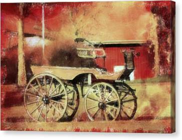 The Old Horse Cart Canvas Print by Toppart Sweden